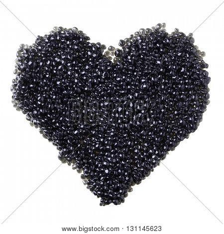 Heart of black caviar