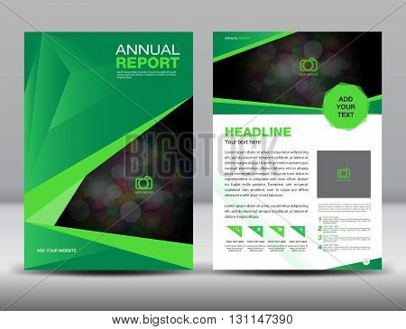 Green Annual report template cover design brochure flyer Layout  template design