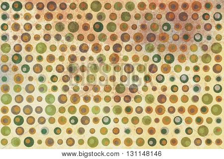 Green, Gray And Brown Dots Texture On Beige And Yellow