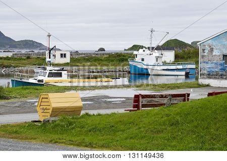 Small boat harbor by Ferryland Newfoundland Canada