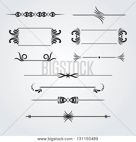 Collection of hand drawn vintage frames for text decoration in vector decorative monograms for text