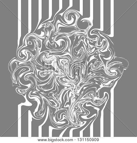 Abstract texture marble gray with wavy design.
