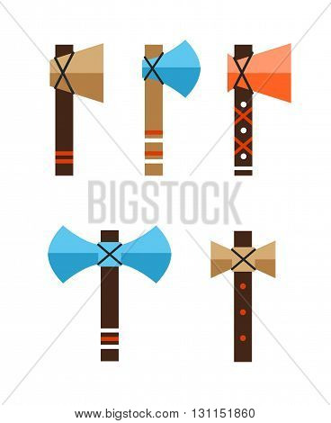 Tomahawk Vector Icon. American Tomahawk Vector Logo. Tomahawk Sign Set. Traditional Tomahawk. Indian