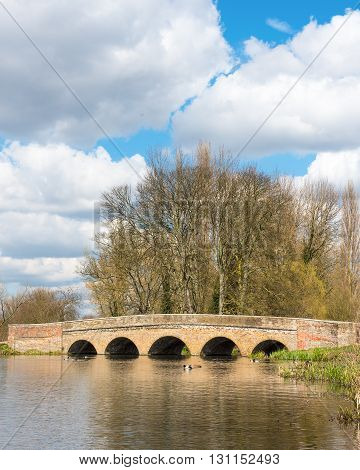 Five Arches Bridge over the river Cray in Sidcup, Greater London, UK
