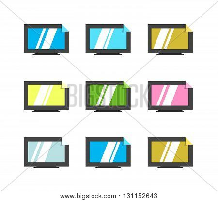 Online Tv Vector Logo. Internet Media. Broadcast Online Vector Logo. Video Content.