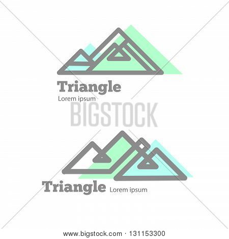 Mountain Modern Sign For Tourism, Travel Blog, Extreme Shop Or Brand. Mountain Geometric Design