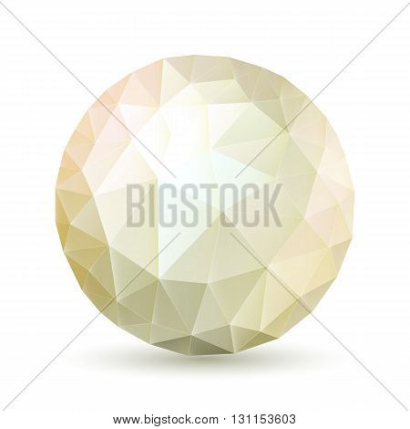 Abstract polygonal sphere in shades on white background