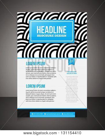 Business Brochure Or Offer Flyer Design Template. Brochure Design, Blank, Print Design, Flyer. Flyer
