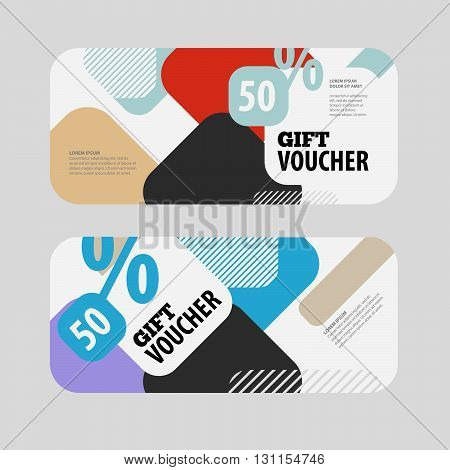 Abstract gift voucher or coupon design template. Voucher design blank print design coupon. Gift voucher vector. Coupon template. Flyer design. Flyer template. Voucher abstract design. Voucher background