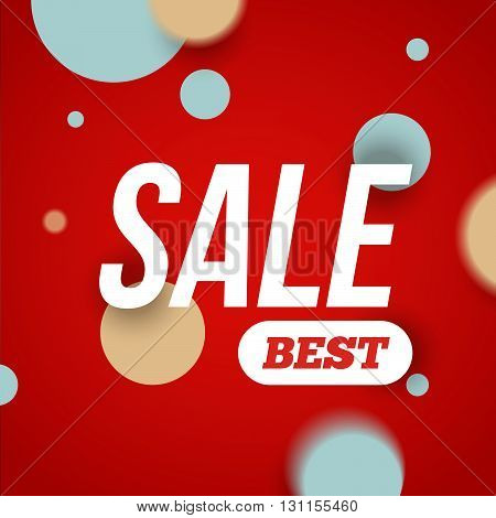 Best sale banner or offer design template. Sale banner design blank print design coupon for web or print. Sale text with confetti. Sale and discounts template. Discount abstract design.