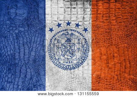 Flag Of New York City, On A Luxurious, Fashionable Canvas