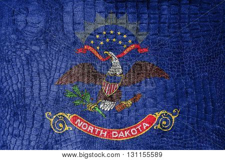Flag Of North Dakota State, On A Luxurious, Fashionable Canvas