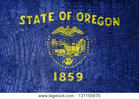 Flag Of Oregon State, On A Luxurious, Fashionable Canvas
