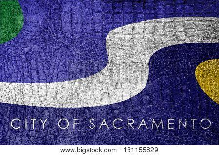 Flag Of Sacramento, California, On A Luxurious, Fashionable Canv
