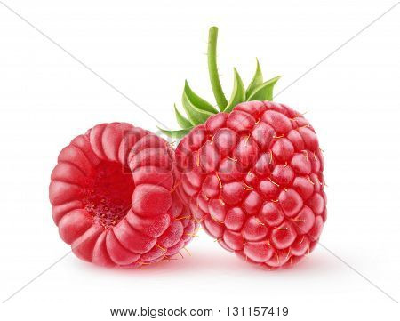 Two Isolated Raspberries