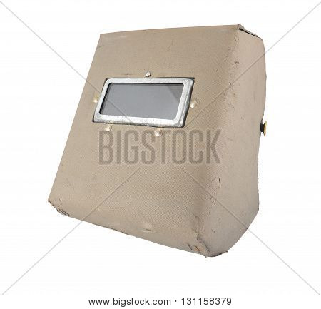 protective welding mask isolated on white background.