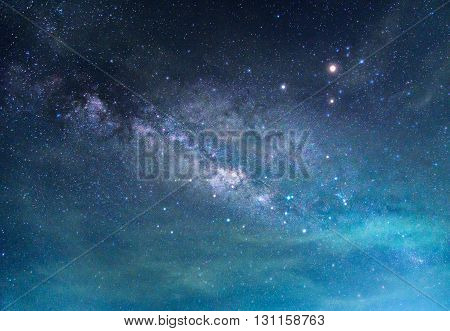 Detail of Milky Way Galaxy Long exposure photograph.