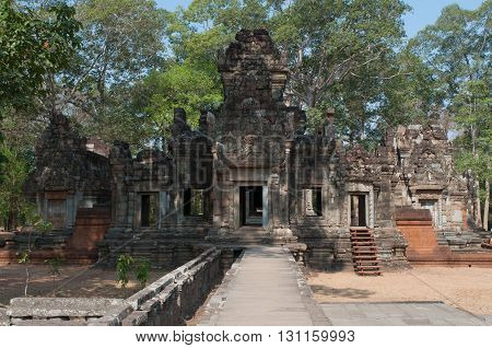 The ancient Khmer temple in the complex of Angkor Thom. Cambodia