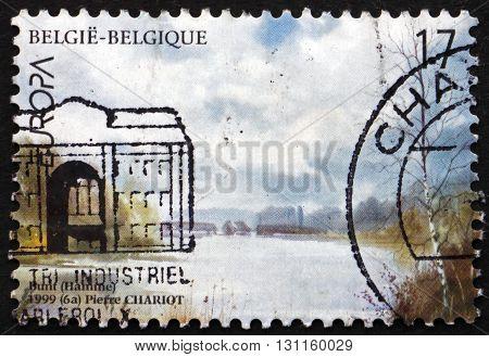 BELGIUM - CIRCA 1999: a stamp printed in the Belgium shows De Bunt near Town of Hamme National Park circa 1999
