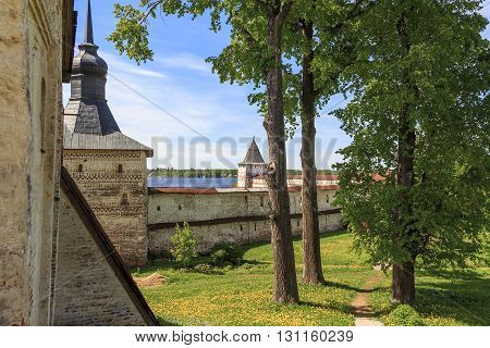 Kirillov, Russia - May 28: Kirillo-Belozersky Monastery. This is the ancient fortifications May 28, 2013 in Kirillov, Russia.
