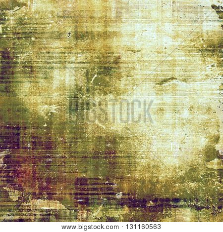 Veined grunge background or scratched texture with vintage feeling and different color patterns: yellow (beige); brown; green; gray; purple (violet)