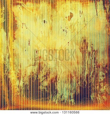 Vintage old retro background with ancient style design elements and different color patterns: yellow (beige); brown; red (orange); purple (violet); pink; cyan