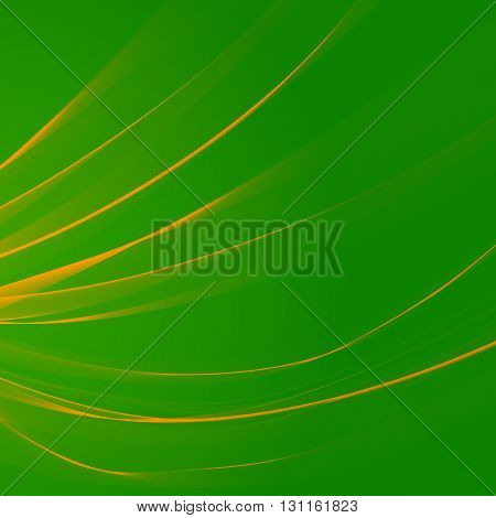 The thin yellow stripes on a green background