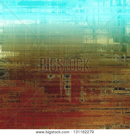 Old grunge vintage background or shabby texture with different color patterns: yellow (beige); brown; green; blue; red (orange); gray
