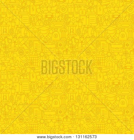 Thin Line Yellow Lawyer Justice And Crime Seamless Pattern