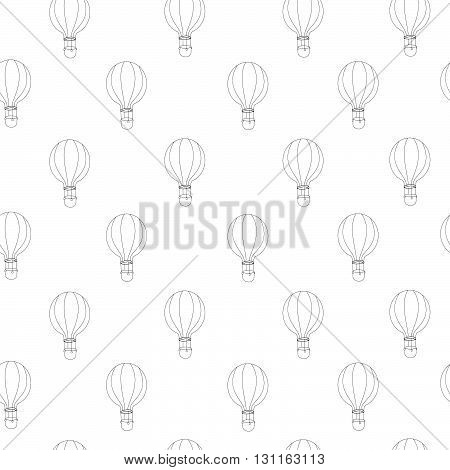 Vector seamless pattern with balloons. Texture for web, print, textile, fabric, home decor, wrapping paper. The possibility of using this template is limitless as your imagination.