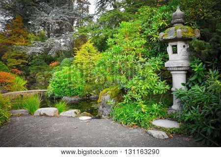 beautiful japanese green park in autumn time, Seattle