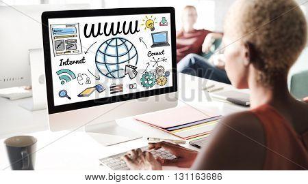 WWW Web Online Technology Global Concept