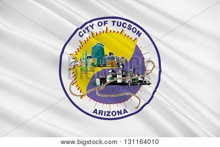 Flag of Tucson is a city and the county seat of Pima County Arizona United States and home to the University of Arizona