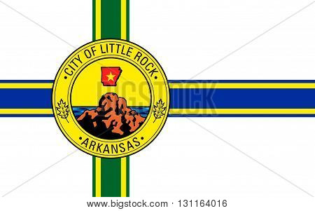 Flag of Little Rock is the capital and the most populous city of the U.S. state of Arkansas