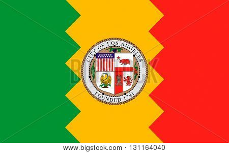 Flag of Los Angeles is the second-largest city in the United States after New York City the most populous city in the state of California and the county seat of Los Angeles County