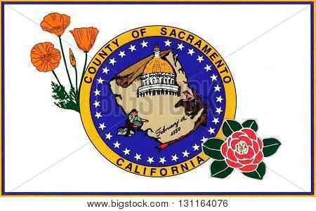 Flag of Sacramento County is a county in the U.S. state of California