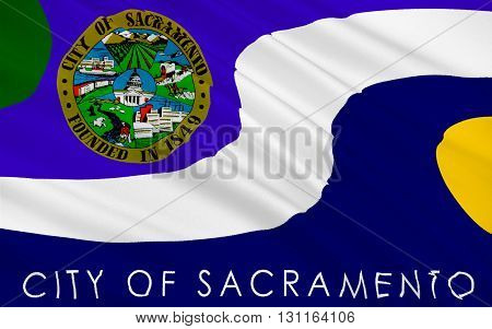 Flag of Sacramento is the capital city of the U.S. state of California and the seat of Sacramento County