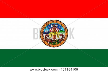 Flag of San Diego County is a county located in the southwestern corner of the state of California in the United States