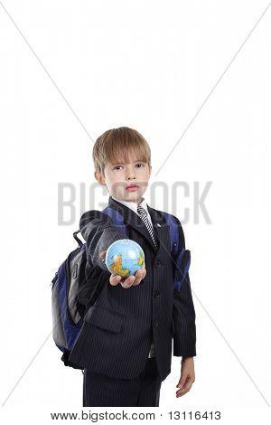 schoolboy finger point