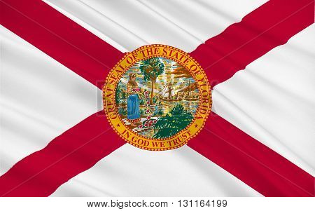 Flag of Florida Listeni is a state located in the southeastern region of the United States