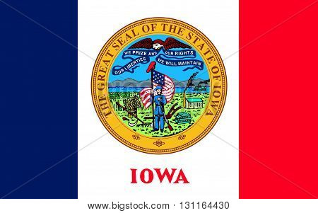 Flag of Iowa is a U.S. state in the Midwestern United States