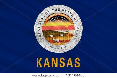 Flag of Kansas is a U.S. state located in the Midwestern United States