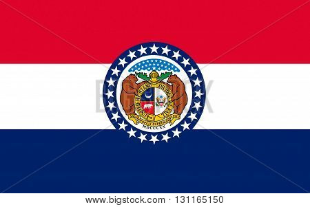 Flag of Missouri is a state located in the Midwestern United States