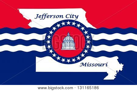 Flag of Jefferson City is the capital of the U.S. state of Missouri