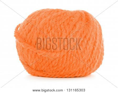 Roll of wool tangled texture isolated on white background
