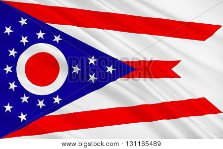 Flag of Ohio is a state in the midwestern region of the United States