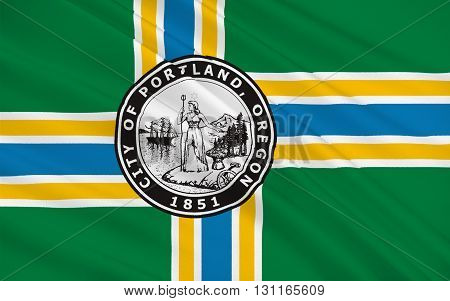 Flag of Portland is the largest city in the U.S. state of Oregon and the seat of Multnomah County