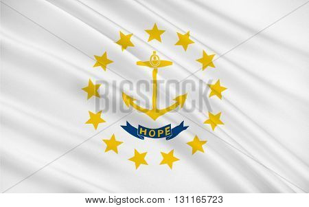Flag of Rhode Island officially the State of Rhode Island and Providence Plantations is a state in the New England region of the United States
