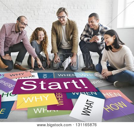 Start Beginning Startup Launch Forward Motivation Concept