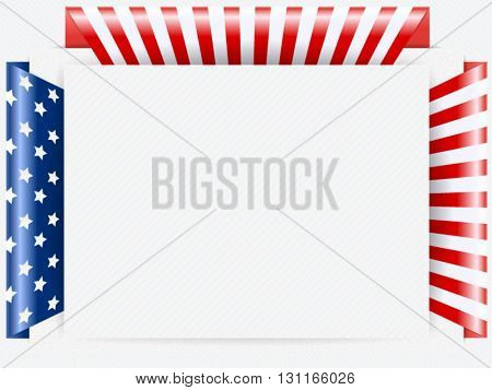 Us Patriotic frame